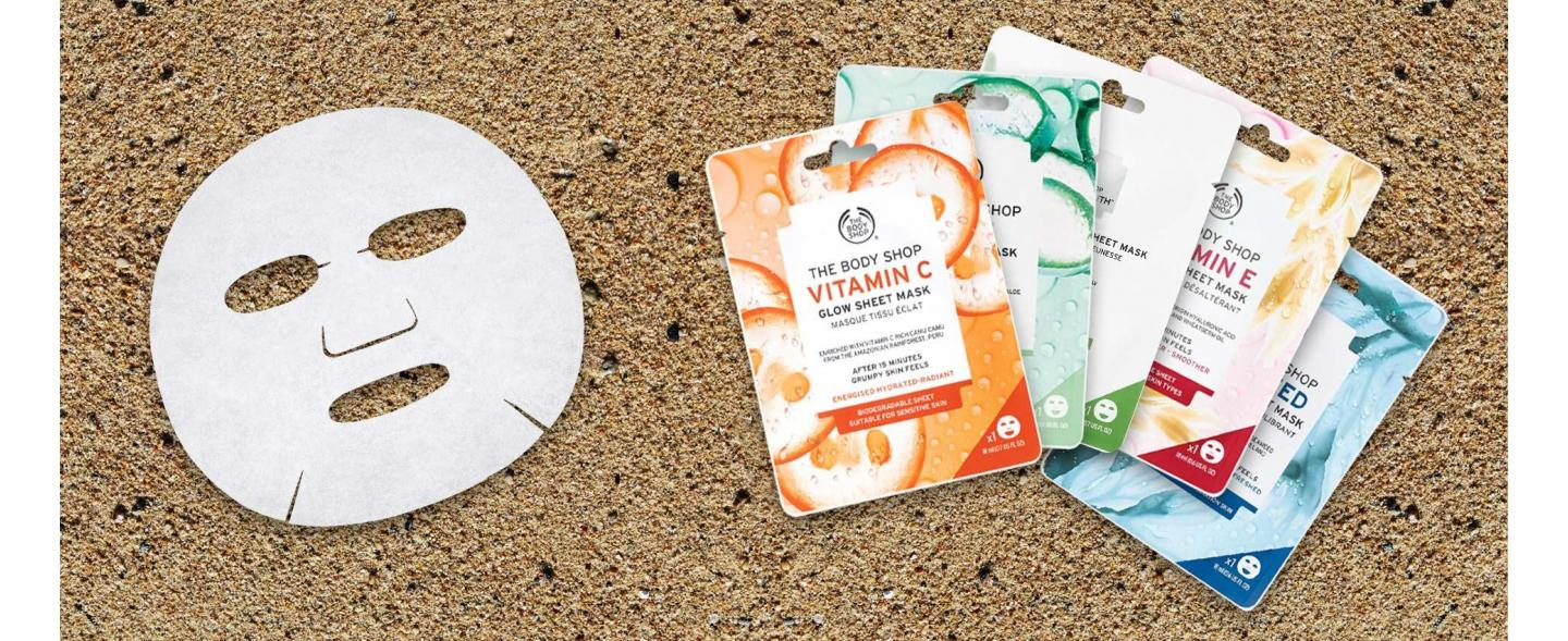 BIODEGRADABLE SHEET MASK BEAUTY FOR YOU, SUSTAINABLE FOR THE PLANET